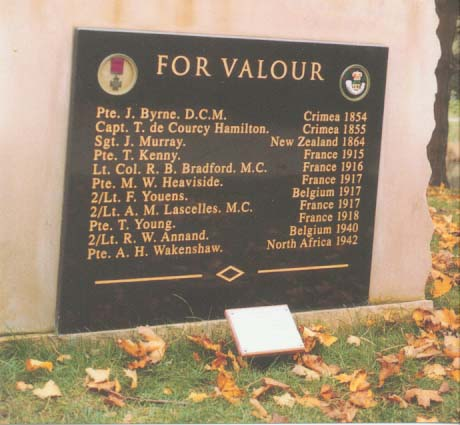 List of VC Winners on the DLI Ceremonial Stone