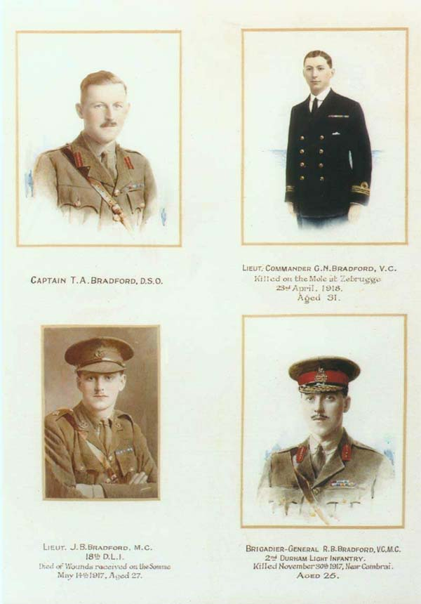 Pic of the 4 Bradfords in uniform
