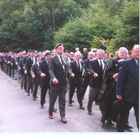 Pic of DLI  Association Members marching past the saluting dais on September 8th 2001