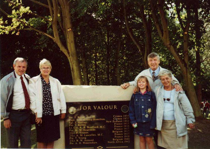 pic of the Witton Park Representatives at the DLI's VC Celebration Stone on 8th September 2001