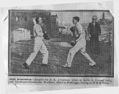 Pic of Uncle Georgie boxing with Admiral Arbuthnot