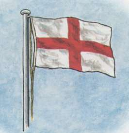 Colour pic of the Cross of St George