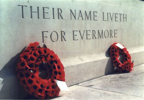 Pic of the inscription at the Cenotaph