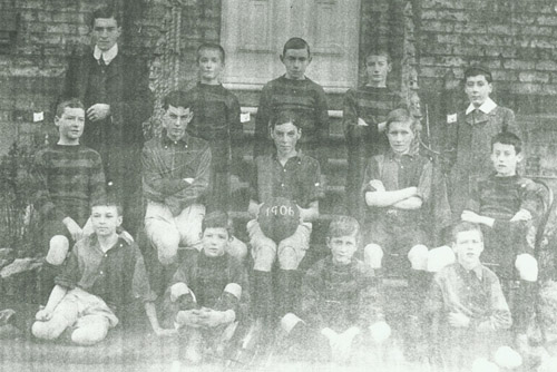 Roland age14 Captain of his year's Football Team at Queen Elizabeth Grammar School Darlington
