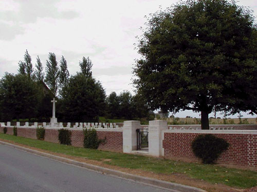 digital pic of Hermies British Cemetery in 2001