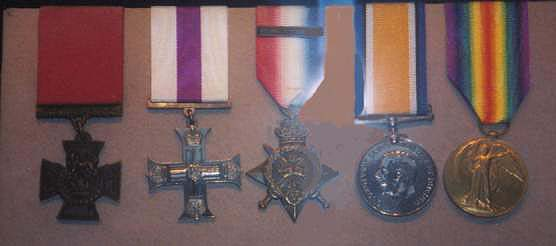 Pic of Brigadier-General R.B. Bradford's medals as diplayed in D.L.I. Museum