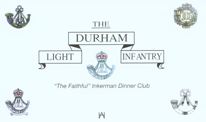Pic of 'The Faithful' Inkerman Dinner Club's insert for the Unveiling Ceremony of the D.L.I. Victoria Cros Celebration Stone