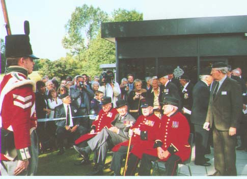 Pic of four special military guests including Captain Richard Annand VC TD the only living DLI winner of the VC