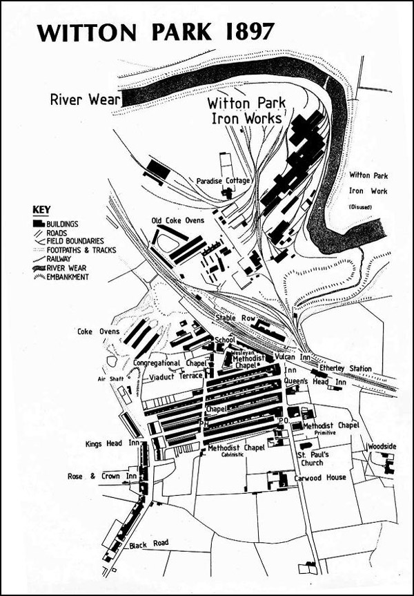 Map of Witton Park 1897